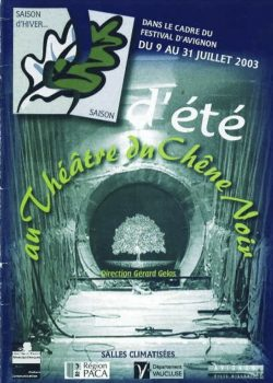 Programme Festival 2003