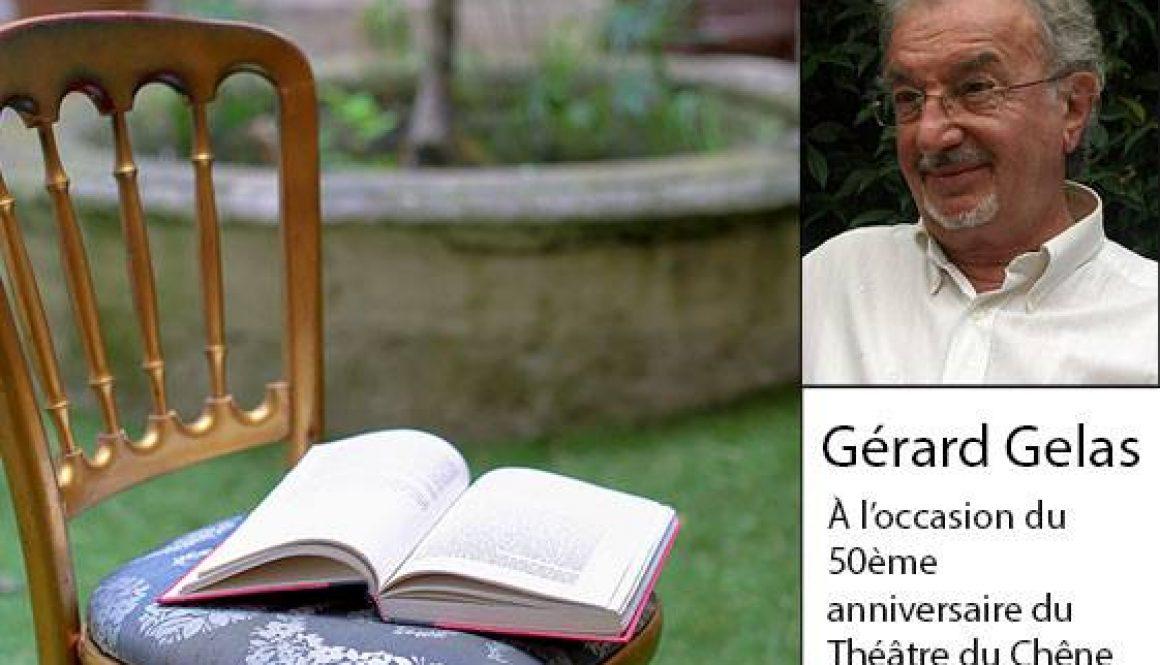 Gérard Gelas, Lecture exceptionnelle à l'Hotel de l'Europe