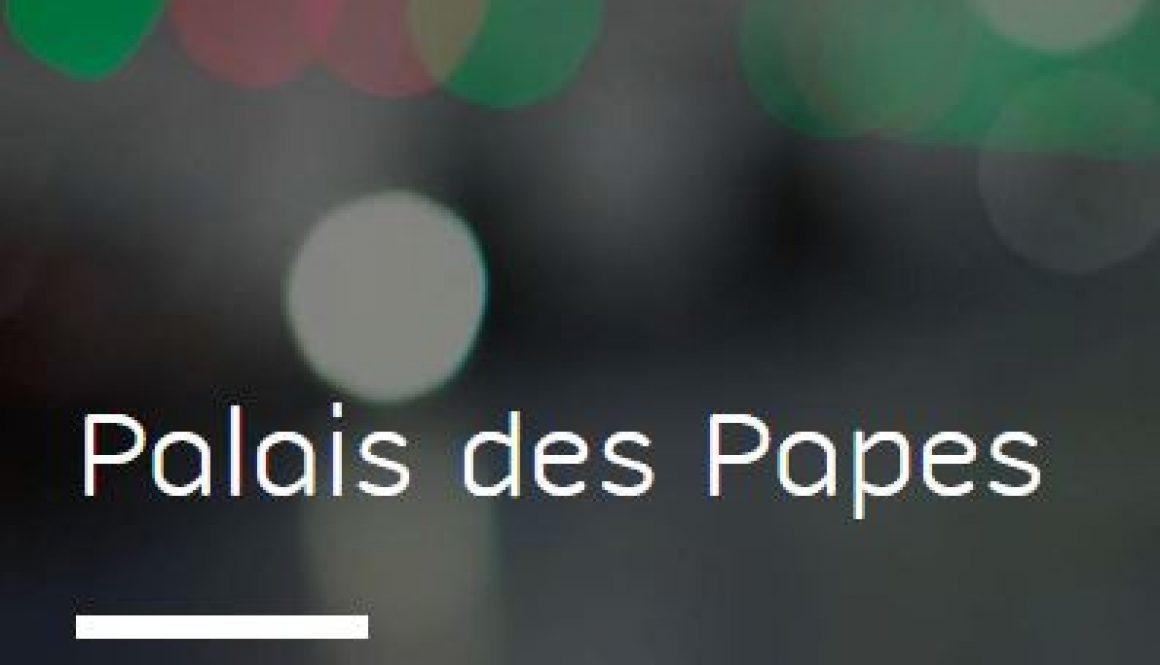 Information tarifs préférentiels avec le Parking Palais des Papes