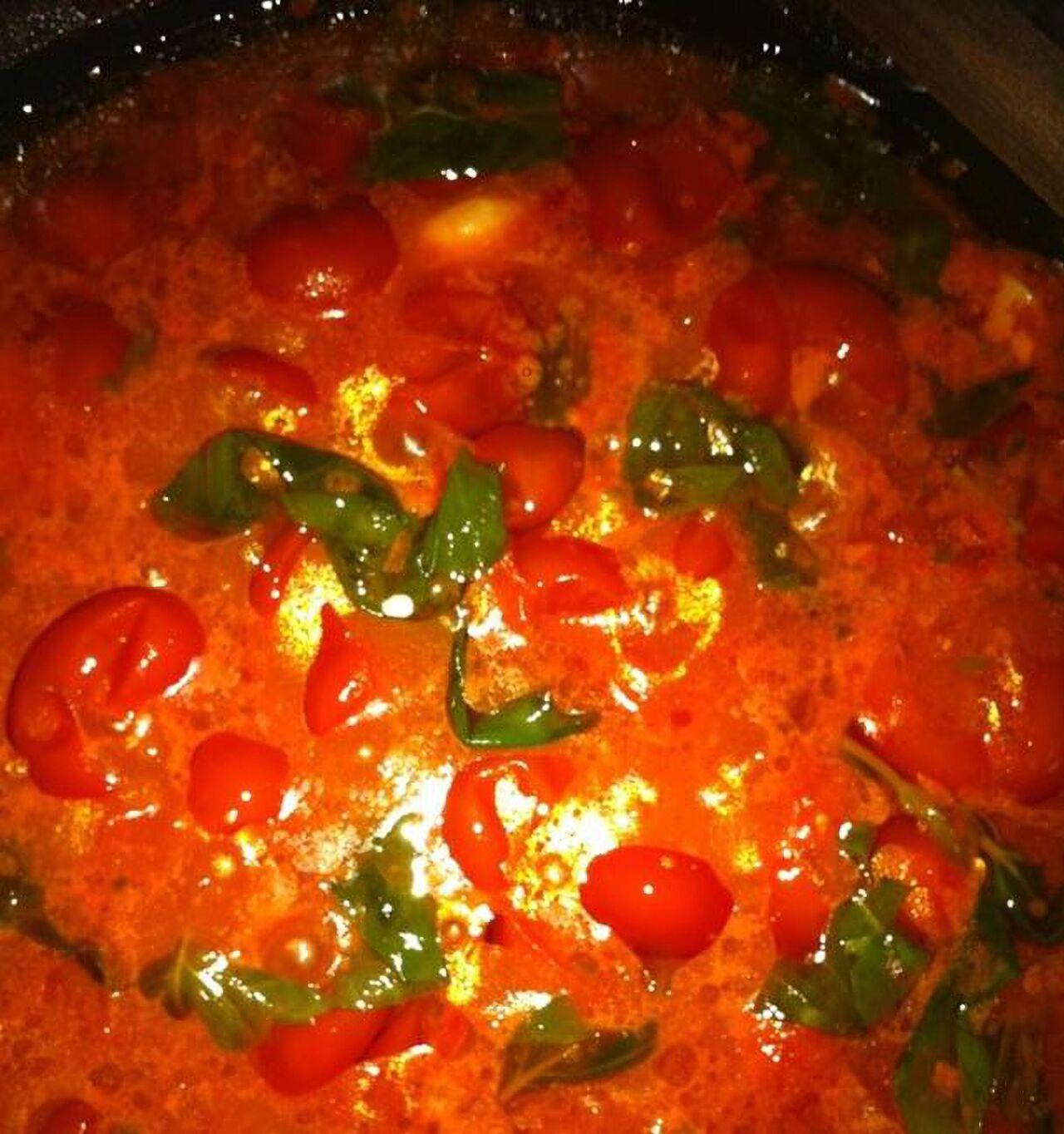 Sauce tomate fraiche basilic