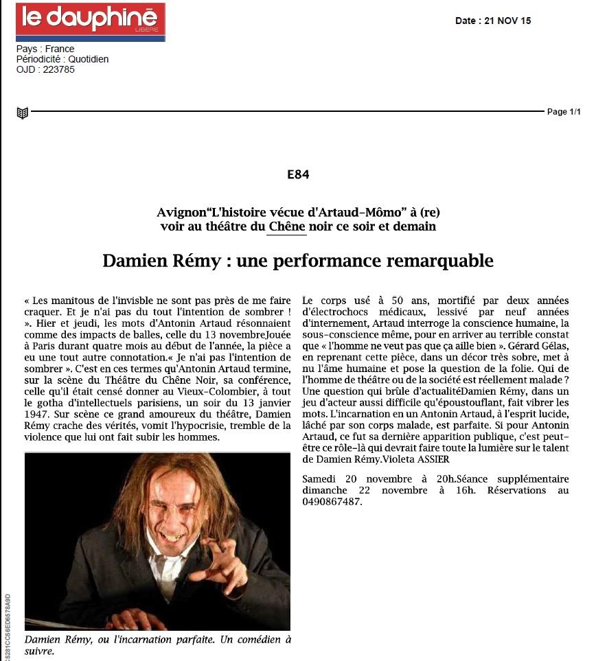 critique dauphine artaud
