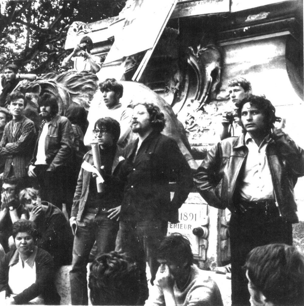 Gérard Gelas jean jacques lebel andré Benedetto 1968 sur la place de lhorloge Copie Copie
